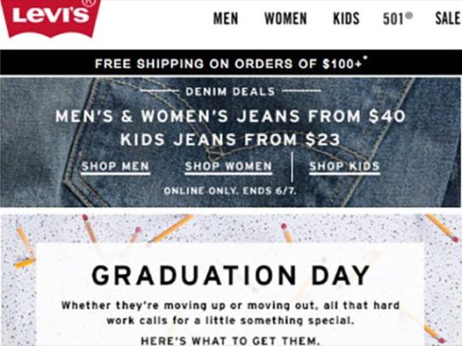 Dockers and Levi's Responsive Emails