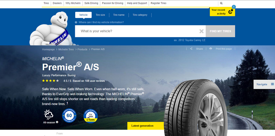Michelin CMS Webpages